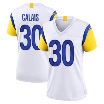 Women's Nike Los Angeles Rams Raymond Calais White Jersey - Game