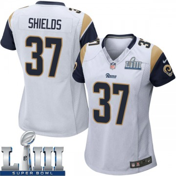 Women's Nike Los Angeles Rams Sam Shields White Super Bowl LIII Bound Jersey - Game