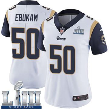 Women's Nike Los Angeles Rams Samson Ebukam White Super Bowl LIII Bound Vapor Untouchable Jersey - Limited