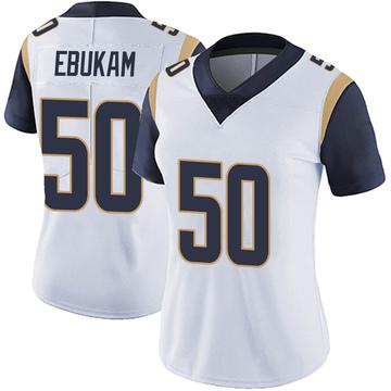 Women's Nike Los Angeles Rams Samson Ebukam White Vapor Untouchable Jersey - Limited
