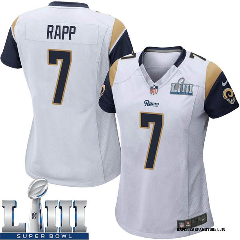 pretty nice b17eb 8309d Women's Nike Los Angeles Rams Taylor Rapp White Super Bowl LIII Bound  Jersey - Game