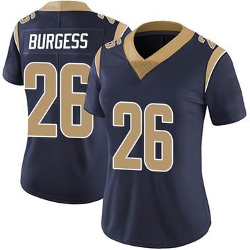 Women's Nike Los Angeles Rams Terrell Burgess Navy Team Color Vapor Untouchable Jersey - Limited