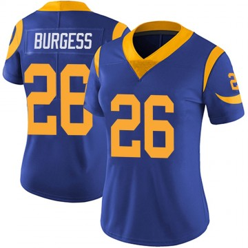 Women's Nike Los Angeles Rams Terrell Burgess Royal Alternate Vapor Untouchable Jersey - Limited