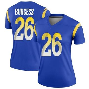 Women's Nike Los Angeles Rams Terrell Burgess Royal Jersey - Legend
