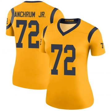 Women's Nike Los Angeles Rams Tremayne Anchrum Gold Color Rush Jersey - Legend