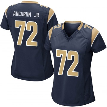 Women's Nike Los Angeles Rams Tremayne Anchrum Navy Team Color Jersey - Game