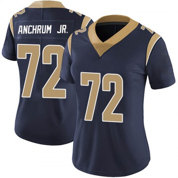 Women's Nike Los Angeles Rams Tremayne Anchrum Navy Team Color Vapor Untouchable Jersey - Limited