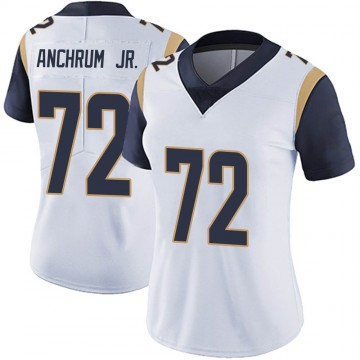 Women's Nike Los Angeles Rams Tremayne Anchrum White Vapor Untouchable Jersey - Limited