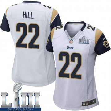 Women's Nike Los Angeles Rams Troy Hill White Super Bowl LIII Bound Jersey - Game