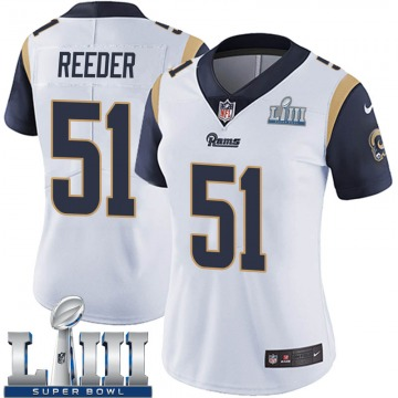 Women's Nike Los Angeles Rams Troy Reeder White Super Bowl LIII Bound Vapor Untouchable Jersey - Limited