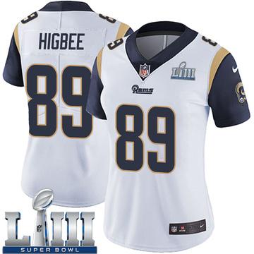 Women's Nike Los Angeles Rams Tyler Higbee White Super Bowl LIII Bound Vapor Untouchable Jersey - Limited