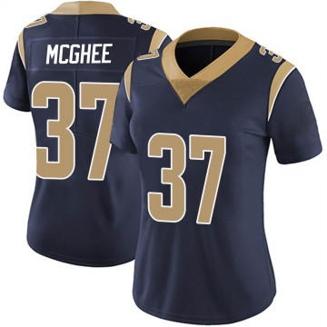 Women's Nike Los Angeles Rams Tyrique McGhee Navy Team Color Vapor Untouchable Jersey - Limited