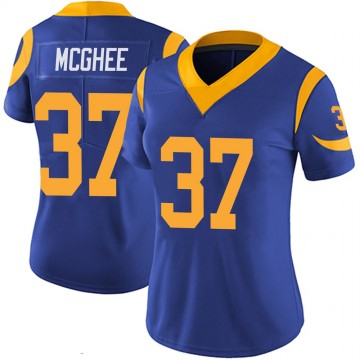 Women's Nike Los Angeles Rams Tyrique McGhee Royal 100th Vapor Jersey - Limited