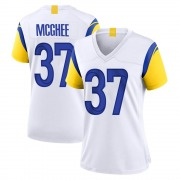 Women's Nike Los Angeles Rams Tyrique McGhee White Jersey - Game