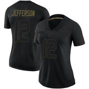 Women's Nike Los Angeles Rams Van Jefferson Black 2020 Salute To Service Jersey - Limited
