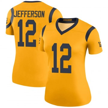 Women's Nike Los Angeles Rams Van Jefferson Gold Color Rush Jersey - Legend