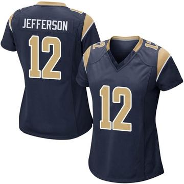 Women's Nike Los Angeles Rams Van Jefferson Navy Team Color Jersey - Game