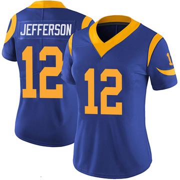 Women's Nike Los Angeles Rams Van Jefferson Royal 100th Vapor Jersey - Limited