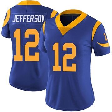 Women's Nike Los Angeles Rams Van Jefferson Royal Alternate Vapor Untouchable Jersey - Limited