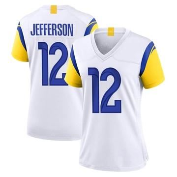 Women's Nike Los Angeles Rams Van Jefferson White Jersey - Game