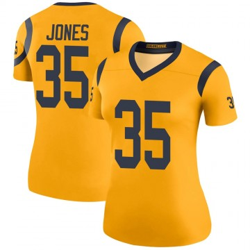 Women's Nike Los Angeles Rams Xavier Jones Gold Color Rush Jersey - Legend