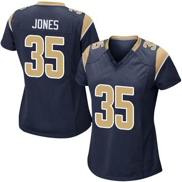 Women's Nike Los Angeles Rams Xavier Jones Navy Team Color Jersey - Game