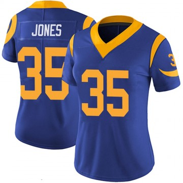Women's Nike Los Angeles Rams Xavier Jones Royal 100th Vapor Jersey - Limited
