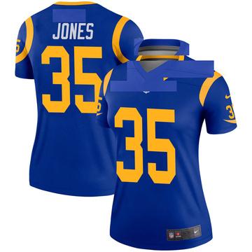 Women's Nike Los Angeles Rams Xavier Jones Royal Jersey - Legend