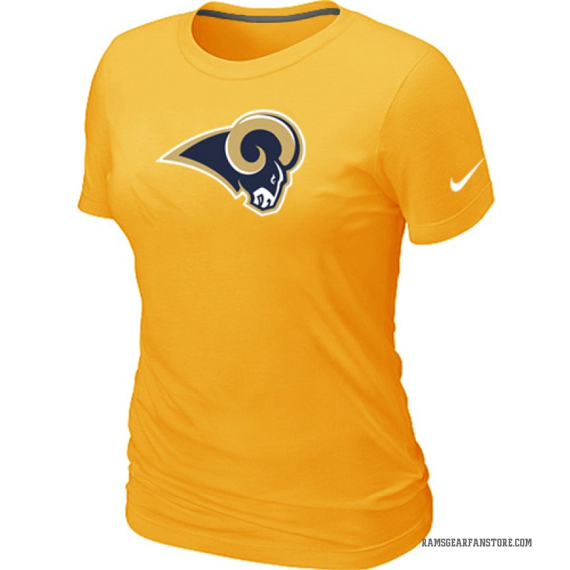 newest 15a55 c52f2 Women's Nike Los Angeles Rams Yellow Logo Dri-FIT T-Shirt - - Legend