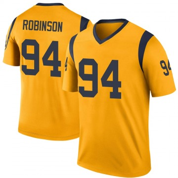 Youth Nike Los Angeles Rams A'Shawn Robinson Gold Color Rush Jersey - Legend