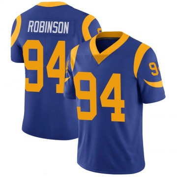 Youth Nike Los Angeles Rams A'Shawn Robinson Royal 100th Vapor Jersey - Limited