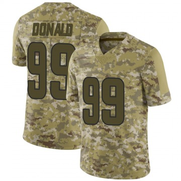 Youth Nike Los Angeles Rams Aaron Donald Camo 2018 Salute to Service Jersey - Limited