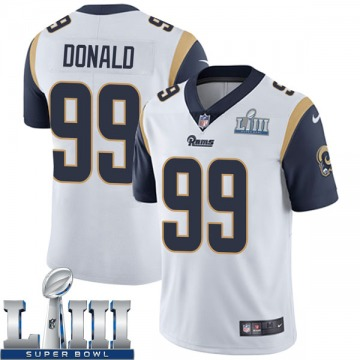 Youth Nike Los Angeles Rams Aaron Donald White Super Bowl LIII Bound Vapor Untouchable Jersey - Limited