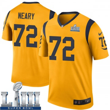 Youth Nike Los Angeles Rams Aaron Neary Gold Color Rush Super Bowl LIII Bound Jersey - Legend