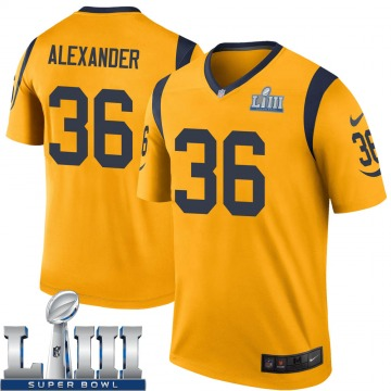Youth Nike Los Angeles Rams Adonis Alexander Gold Color Rush Super Bowl LIII Bound Jersey - Legend