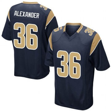 Youth Nike Los Angeles Rams Adonis Alexander Navy Team Color Jersey - Game