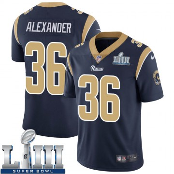 Youth Nike Los Angeles Rams Adonis Alexander Navy Team Color Super Bowl LIII Bound Vapor Untouchable Jersey - Limited
