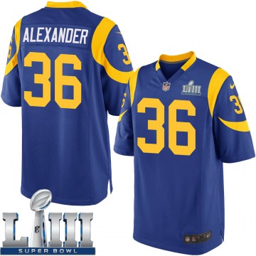 Youth Nike Los Angeles Rams Adonis Alexander Royal Alternate Super Bowl LIII Bound Jersey - Game