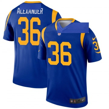 Youth Nike Los Angeles Rams Adonis Alexander Royal Jersey - Legend