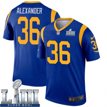 Youth Nike Los Angeles Rams Adonis Alexander Royal Super Bowl LIII Bound Jersey - Legend