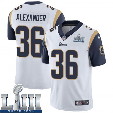 Youth Nike Los Angeles Rams Adonis Alexander White Super Bowl LIII Bound Vapor Untouchable Jersey - Limited