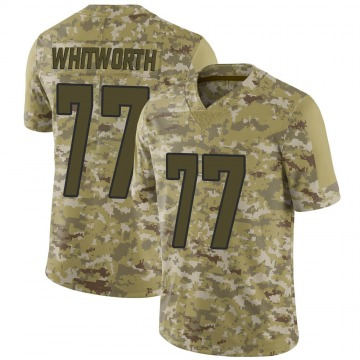 Youth Nike Los Angeles Rams Andrew Whitworth Camo 2018 Salute to Service Jersey - Limited