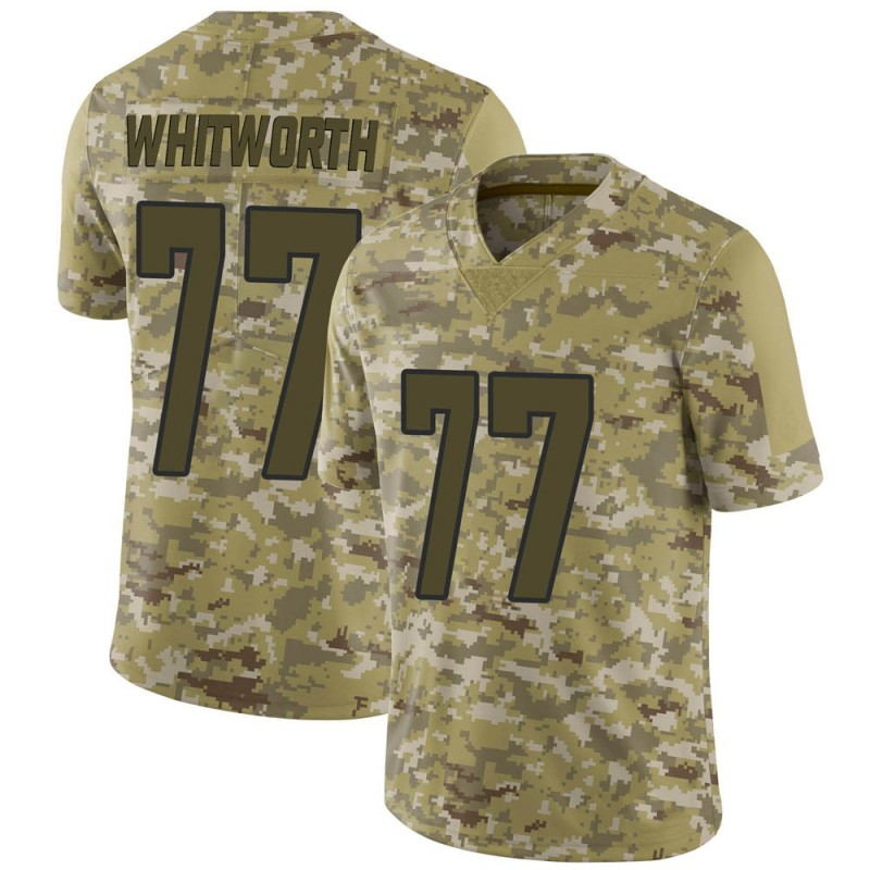 info for e86d7 59628 Youth Nike Los Angeles Rams Andrew Whitworth Camo 2018 Salute to Service  Jersey - Limited