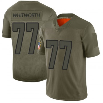 Youth Nike Los Angeles Rams Andrew Whitworth Camo 2019 Salute to Service Jersey - Limited