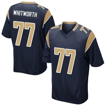 Youth Nike Los Angeles Rams Andrew Whitworth Navy Team Color Jersey - Game
