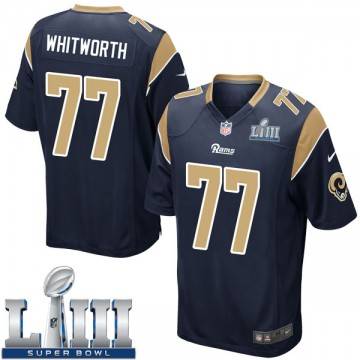 Youth Nike Los Angeles Rams Andrew Whitworth Navy Team Color Super Bowl LIII Bound Jersey - Game