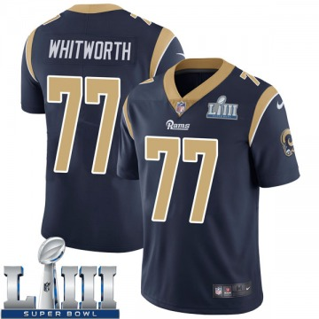 Youth Nike Los Angeles Rams Andrew Whitworth Navy Team Color Super Bowl LIII Bound Vapor Untouchable Jersey - Limited