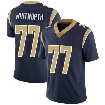 Youth Nike Los Angeles Rams Andrew Whitworth Navy Team Color Vapor Untouchable Jersey - Limited