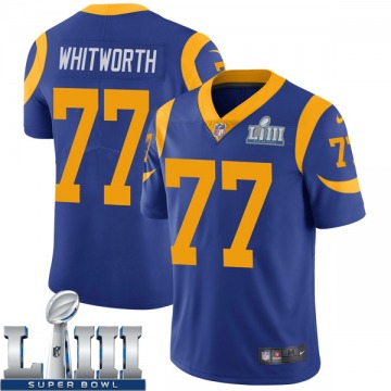 Youth Nike Los Angeles Rams Andrew Whitworth Royal Alternate Super Bowl LIII Bound Vapor Untouchable Jersey - Limited