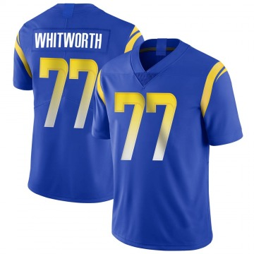 Youth Nike Los Angeles Rams Andrew Whitworth Royal Alternate Vapor Untouchable Jersey - Limited